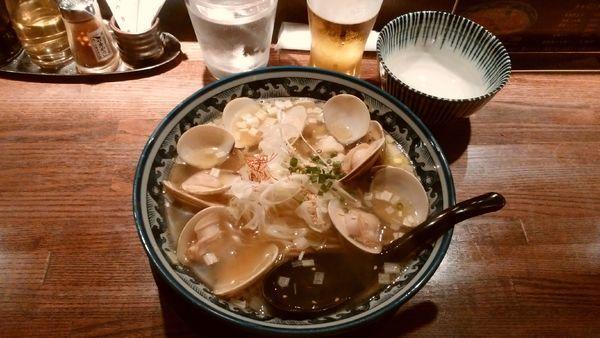 「はまぐりラーメン¥980-+アサヒ生ビール¥420-」@和風楽麺 四代目 ひのでやの写真