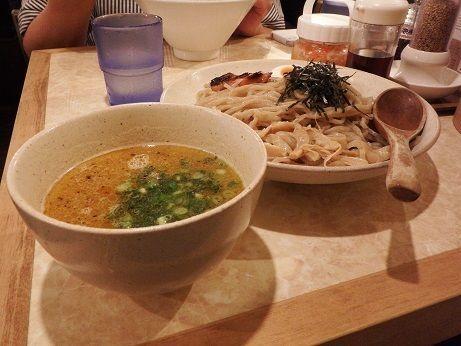 「塩玉つけめん」@鶏ポタラーメン THANK 大門店の写真