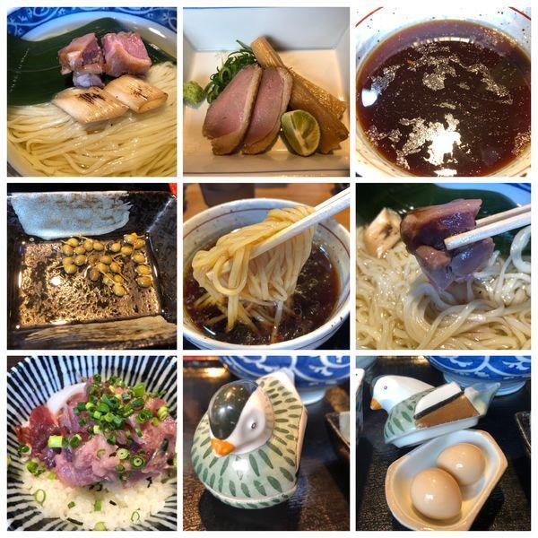「昆布水に浸かった鴨つけそば 極 1100円+海鮮丼 430円」@寿製麺よしかわ 川越店の写真