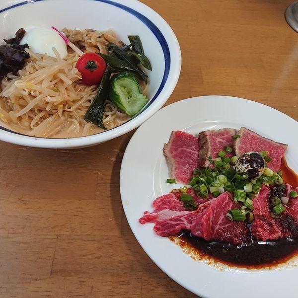 「胡麻タレ冷し②和牛冷し中華S 3000円。」@MENYA 食い味の道有楽の写真