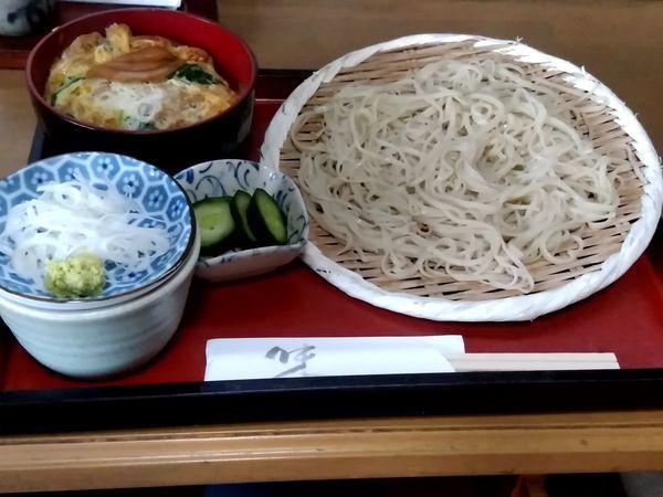 「かつ丼と冷たいそばセット(並盛)880円」@朋よしの写真