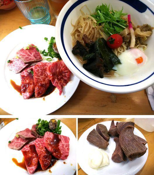 「【限定】胡麻タレ冷し②和牛冷し中華S和牛叩き+霜肉3000円」@MENYA 食い味の道有楽の写真