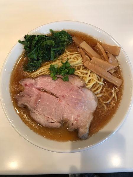 「濃厚醤油そば 850円、大盛 150円」@麺や 彩~iro~の写真