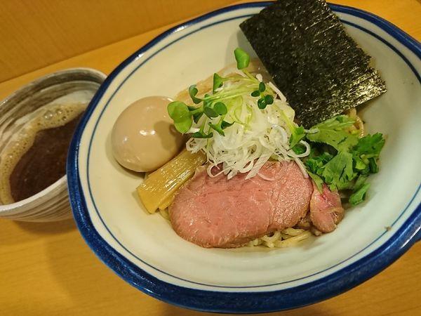 「味玉鰹と煮干しの醤油つけ麺(1030円)」@麺処 富士松の写真