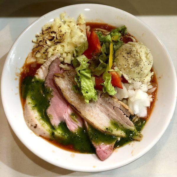 「【限定】イタリアン担々麺 ¥900」@麺屋 扇 SENの写真