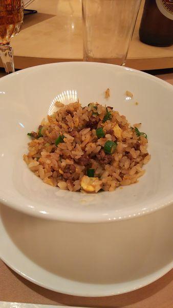「牛挽き肉とインゲン入りチャーハン」@南園 京王プラザホテル店の写真