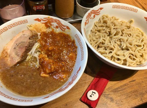 「つけ麺フュージョン」@火の豚 人形町駅前店の写真
