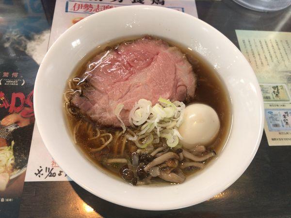 「カキ正油らぁ麺」@麺や青雲志の写真
