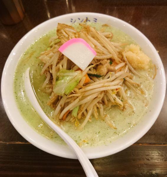 「濃厚バジルタンメン」@極濃湯麺シントミ 本庄インター店の写真