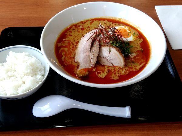 「スープカレーラーメン(並盛・辛さ3)900円」@天心の写真