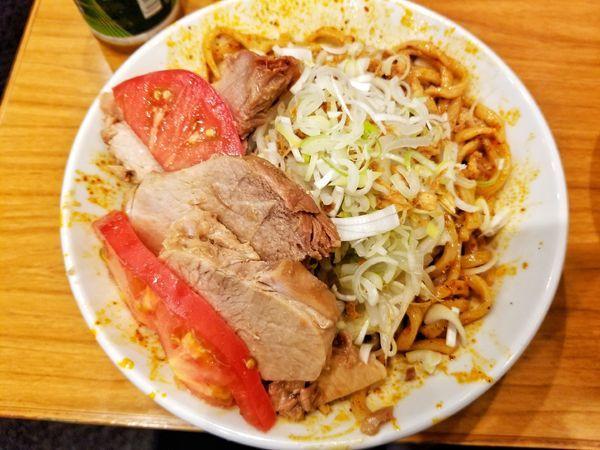 「限定 辛い冷やし中華」@麺屋 歩夢の写真
