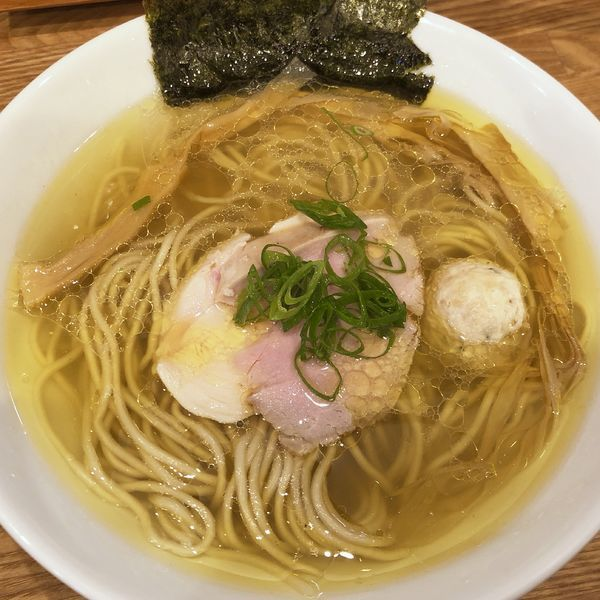 「地鶏 塩」@自家製麺 純の写真
