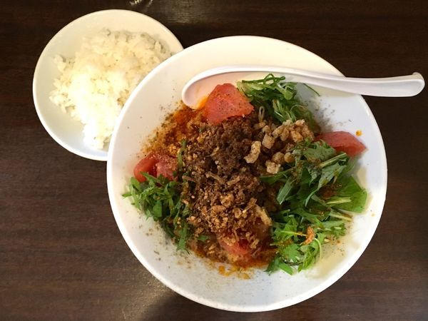 「冷やし担々麺+半ライス」@旬ダイニング 鶴田の写真