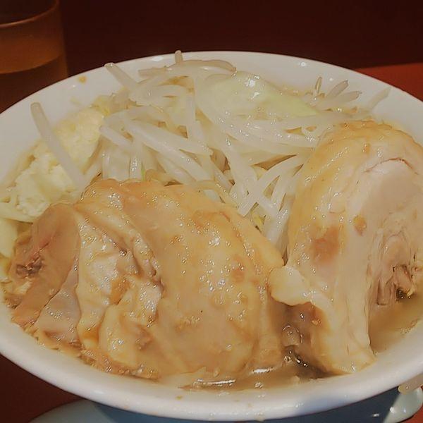 「小ラーメン麺少なめニンニク」@ラーメン二郎 荻窪店の写真