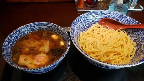 「ワンタンつけ蕎麦 850円」@中華蕎麦 金魚の写真