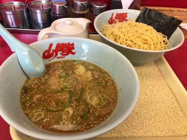 「醤油つけ麺中盛り」@ラーメン山岡家 足利店の写真