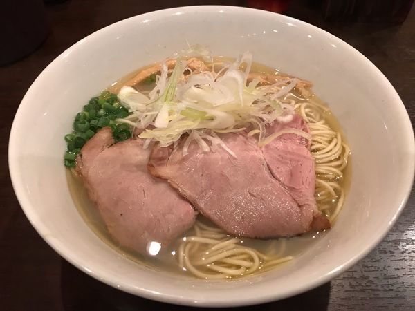「貝出汁そば 塩  780円」@麺屋くまがいの写真