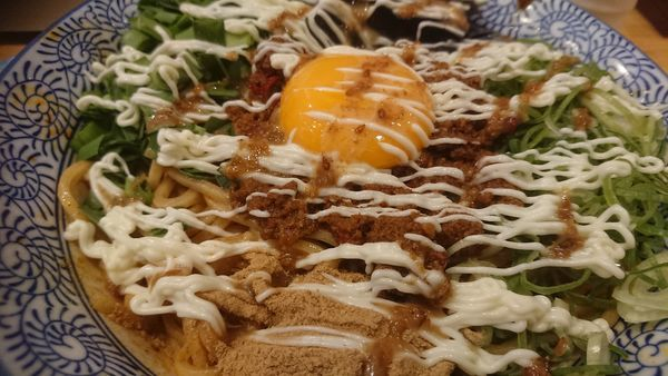 「冷やし台湾まぜそば(限定、950円)+大盛無料」@自家製麺 竜葵の写真