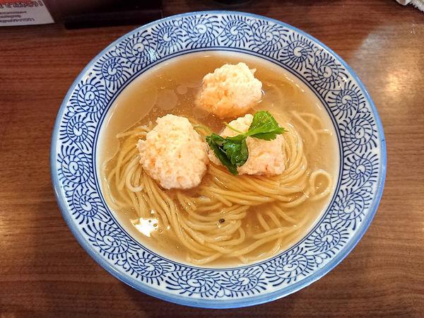 「限定 冷やしシジミそば+海老団子」@煮干しつけ麺 宮元の写真