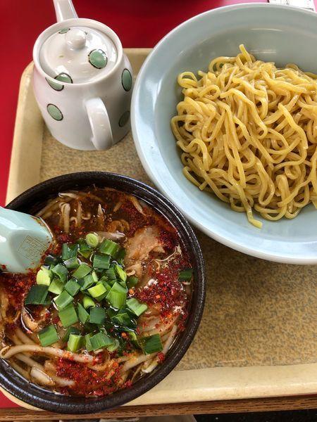 「豚バラもやしつけ麺」@ラーメン山岡家 音羽蒲郡店の写真
