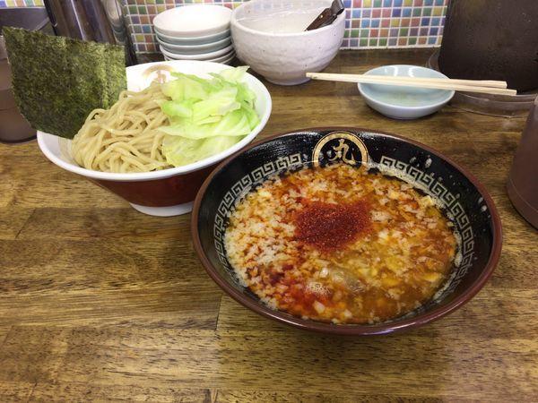 「海老辛醤つけ麺(中盛) 900円」@中華蕎麦 丸め 東久留米店の写真