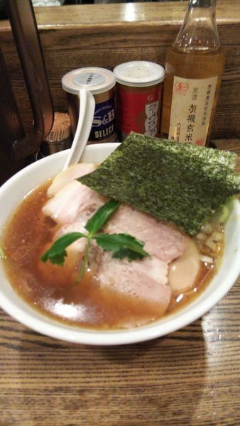 「特製平子煮干そば+長ネギ」@新橋 纏の写真
