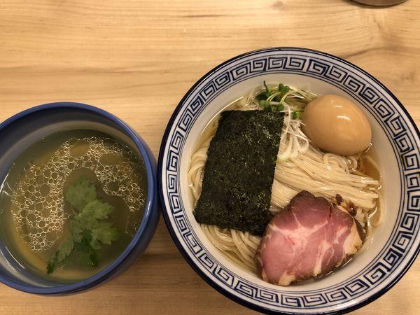 「昆布水のつけ麺 (塩)、味玉」@麺処 有彩の写真