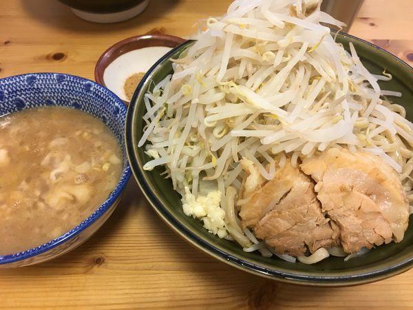 「つけ麺(ヤサイマシ ニンニクスクナメ 魚粉)」@ハイパーファットンの写真