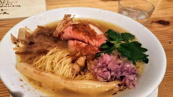 「カラスミ塩魚汁ソバ」@自家製麺 うろたの写真