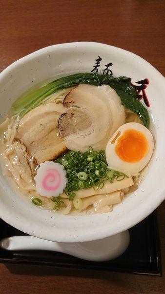 「魚介塩ラーメン800円」@麺や秀の写真