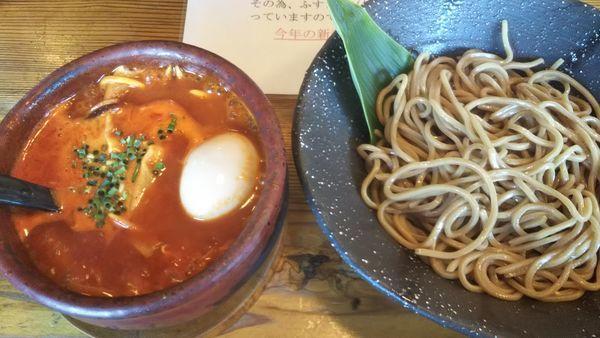 「うま辛つけ麺レベル3」@麺や つるり 新潟小千谷流の写真