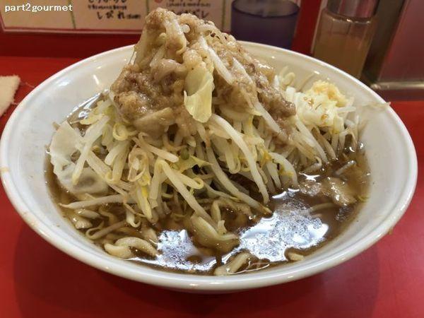 「らーめん(豚2枚) 「ニンニクアブラ」(750円)」@麺屋 桐龍の写真