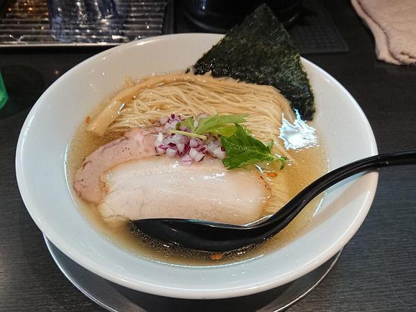 「塩中華そば」@つけ麺 中華そば アンタイNOODLESの写真