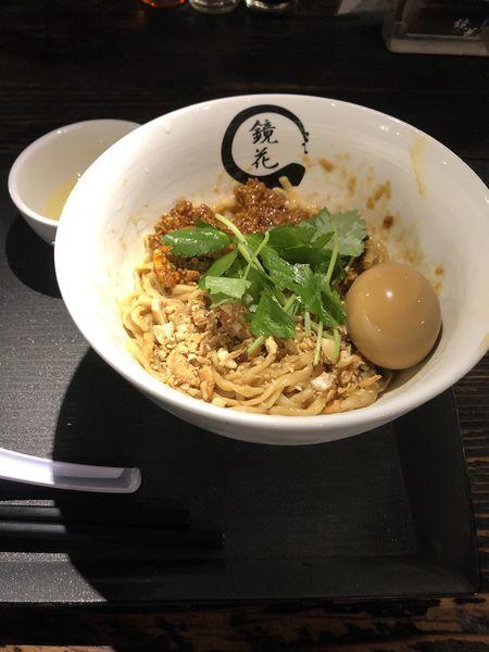 「冷やし汁なし坦々麺+味玉」@らーめん愉悦処 鏡花の写真