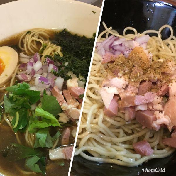 「冷やし煮干しソバ¥850+冷やし和え玉(塩)¥200」@鶏こく中華 すず喜の写真