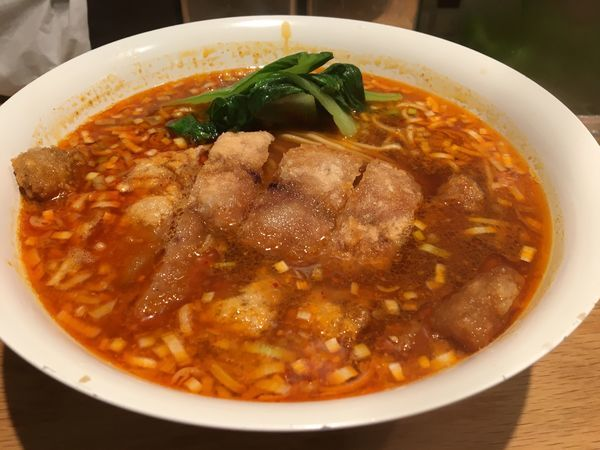 「大麦三元豚排骨坦々麺」@Renge no Gotokuの写真