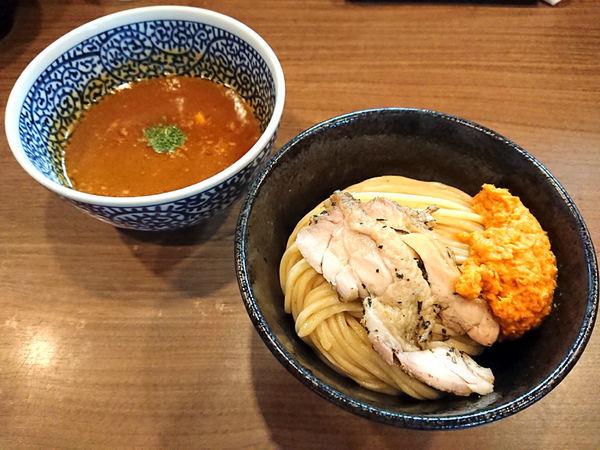 「限定 ベジポタ黒さつま鶏つけ麺」@煮干しつけ麺 宮元の写真