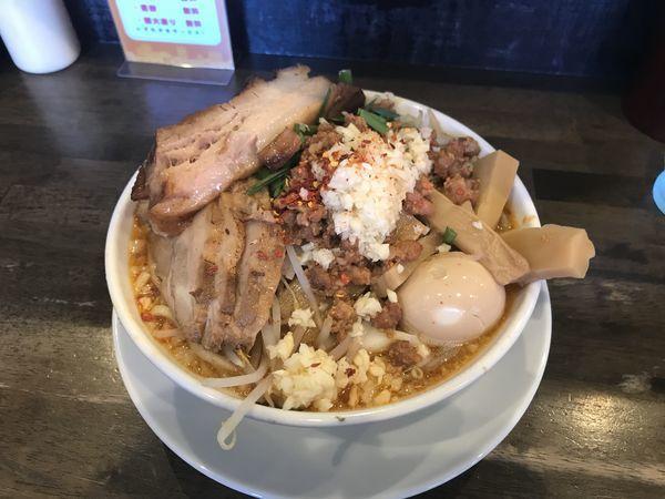 「台湾二郎【全のせ・大盛】」@麺屋 GOO ~noodle house~の写真