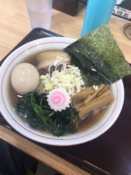 「味玉あっさり煮干し中華そば790円」@らーめん 八幡屋の写真
