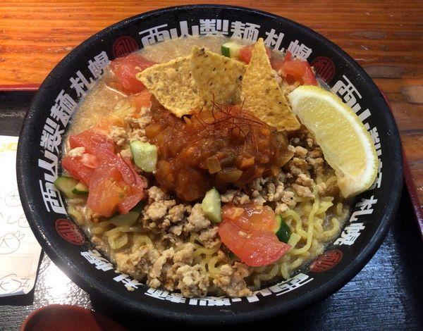 「メキシカン味噌冷やし麺 大盛」@麺場 もっけいの写真