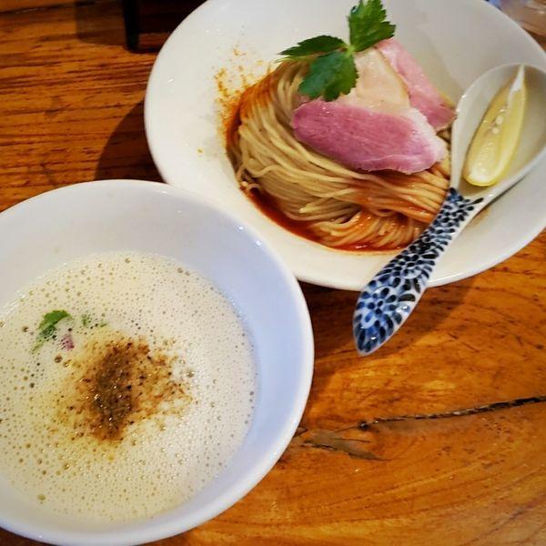 「冷や牡蠣煮干しつけそば 900円他」@中華そば 先崎の写真
