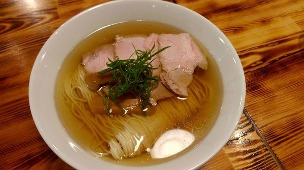 「塩煮干しそば(700円)」@柴崎亭 梅ヶ丘店の写真