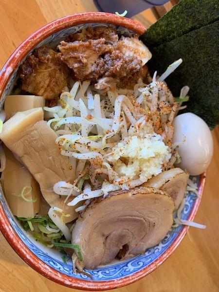「ジミヘン大盛+サービスライス」@麺の樹 ぼだいの写真
