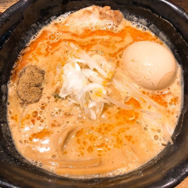 「ラーメン ¥800+味玉 ¥110」@麺や 蒼 AOIの写真