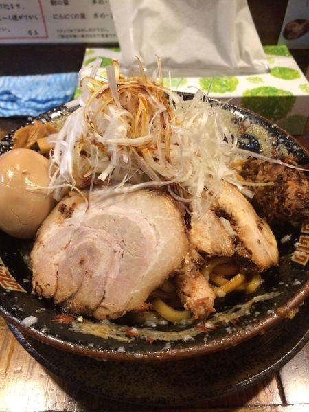 「爆盛油脂麺+ネギ(麺300gニンニク多め脂多め)」@らーめん 平太周 味庵の写真