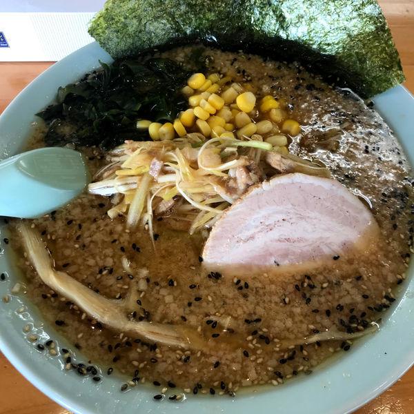 「ネギ味噌ラーメン(半麺)850円 ライス 0円」@ラーメンショップ 足利50号店の写真