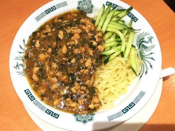 「【期間限定】ガパオ汁なし麺 590円」@日高屋 赤羽東口店の写真