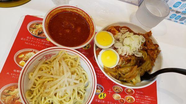「半蒙古➕冷やし味噌880円 ☠️」@蒙古タンメン 中本 大宮店の写真