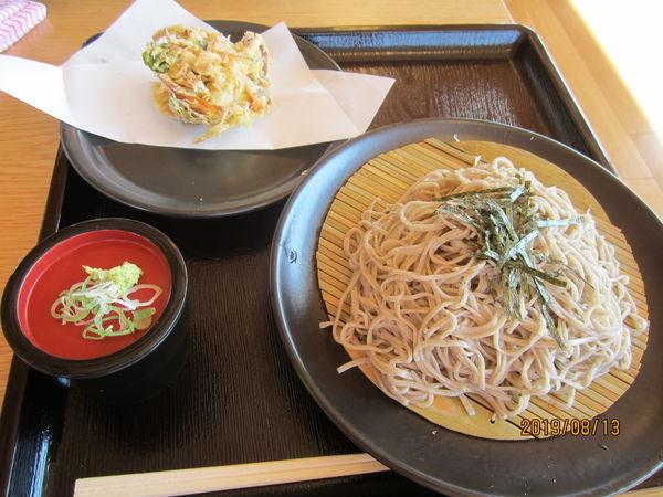 「大盛かき揚げざるそば800円」@道の駅ふたつい KoiKoi食堂の写真