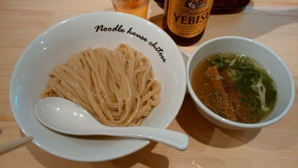 「【夏季限定】塩つけ麺¥930-+ヱビス中瓶¥600-」@麺庵ちとせの写真